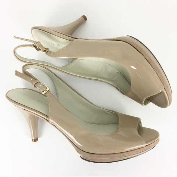 Nine West Shoes - 2/$20 Nine West Slingback Peep Toe Heels